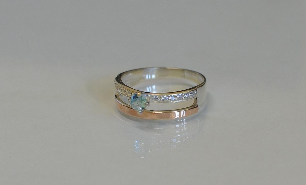 Кольцо с напылением золота кольцо проволока
